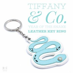 Tiffany & Co. Leather Snake Keychain Bag Charm